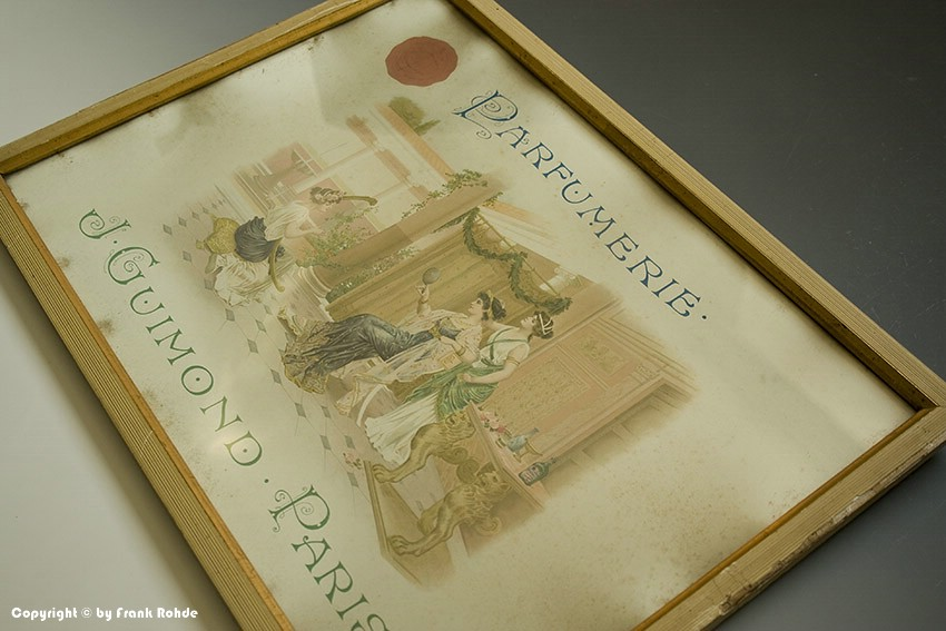 Eingerahmte Reklame PARFUMERIE J-GUIMOND PARIS um 1910 !?   eBay