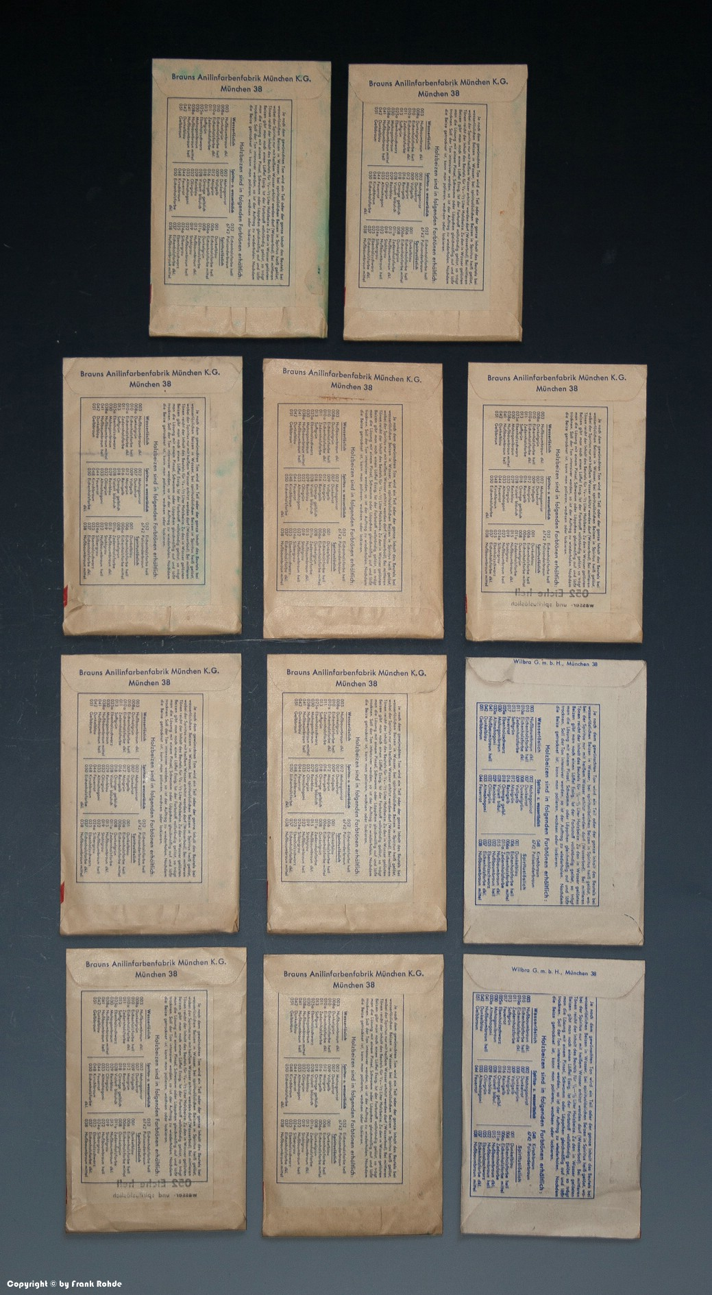 konvolut 11 x t ten brauns holz beize wohl um 1955 ebay. Black Bedroom Furniture Sets. Home Design Ideas